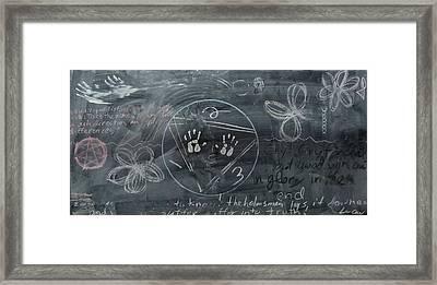 Blackboard Science And Art II Framed Print by Stephen Hawks