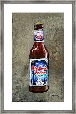 Blackened Voodoo Beer Framed Print by Elaine Hodges