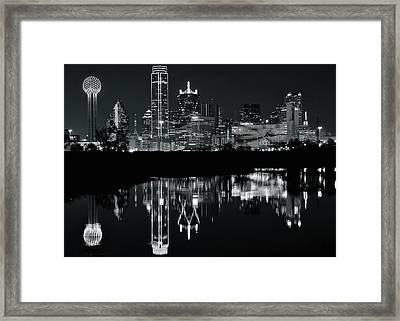 Blackest Night In Big D Framed Print by Frozen in Time Fine Art Photography