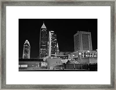 Framed Print featuring the photograph Blackest Night In Cle by Frozen in Time Fine Art Photography