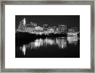 Blackest Night In Hartford Framed Print