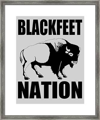 Blackfoot Buffalo Framed Print by Otis Porritt