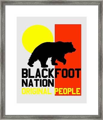 Blackfoot Nation Original People 2 Framed Print by Otis Porritt