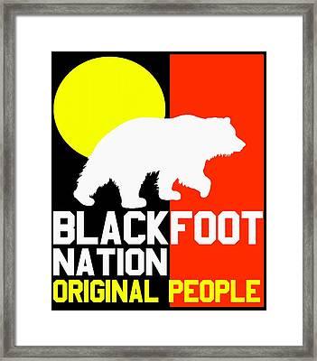 Blackfoot Nation Original People Framed Print by Otis Porritt