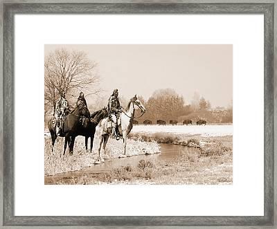 Blackfoot On The Buffalo Trail Framed Print