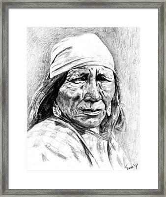 Blackfoot Woman Framed Print