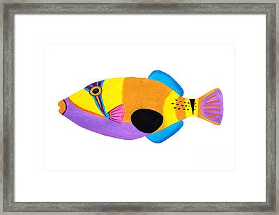 Blackpatch Triggerfish  Framed Print by Opas Chotiphantawanon