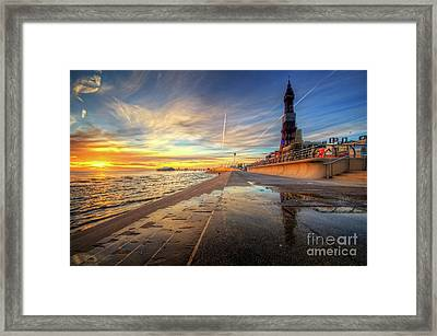 Blackpool Sunset Framed Print by Yhun Suarez