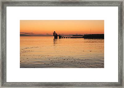 Blackrock Sunset Framed Print