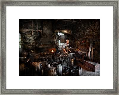 Blacksmith - This Is My Trade  Framed Print by Mike Savad