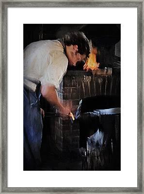 Blacksmith 2 - Pioneer Village Framed Print by Steve Ohlsen