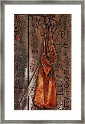 Blacksmith Apron Framed Print