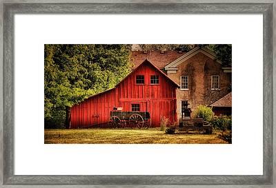 Blacksmith Barn Framed Print by Zeus  Montalvo