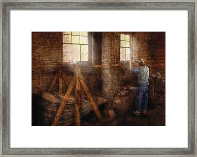 Blacksmith - It's Getting Hot In Here Framed Print by Mike Savad