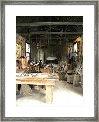 Blacksmith Framed Print by Kim Zwick