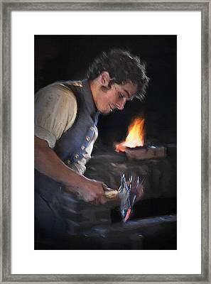 Blacksmith - Pioneer Village Framed Print by Steve Ohlsen
