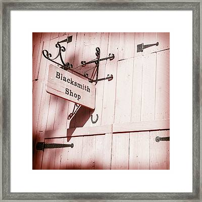 Framed Print featuring the photograph Blacksmith Shop by Alexey Stiop