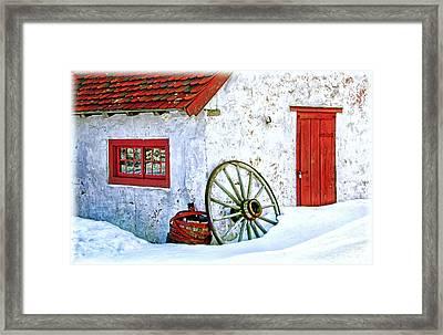 Blacksmith Shop At Hopewell Furnace Framed Print by Carolyn Derstine