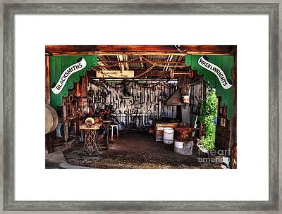 Blacksmith Shop By Kaye Menner Framed Print
