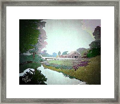 Blacksmith Shop On Sudbury River Framed Print by Cliff Wilson