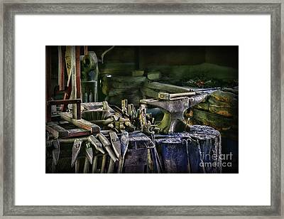 Blacksmith - This Is My Anvil Framed Print by Paul Ward