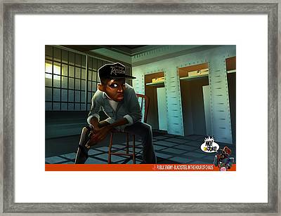 Blacksteel In The Hour Of Chaos Framed Print by Nelson  Dedos Garcia