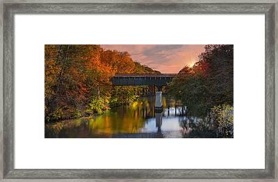 Blackstone River Bridge Framed Print