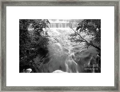 Blackstone River Dam At Manville Framed Print