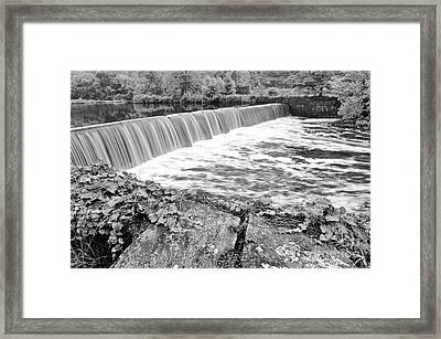 Blackstone River Dam Manville Rhode Island Framed Print