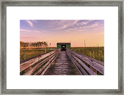 Framed Print featuring the photograph Blackwater Blind by Jennifer Casey