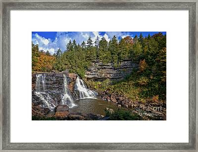 Blackwater Falls  In Autumn 3879c Framed Print