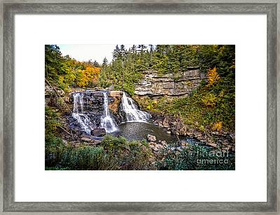 Blackwater Falls In Autumn3836c Framed Print