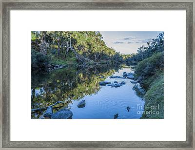 Blackwood River Rocks, Bridgetown, Western Australia Framed Print