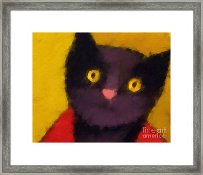 Blacky Framed Print by Lutz Baar