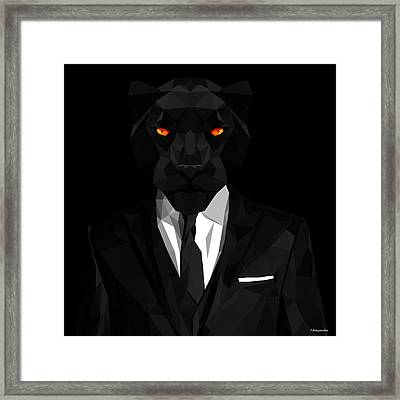 Blacl Panther Framed Print by Gallini Design