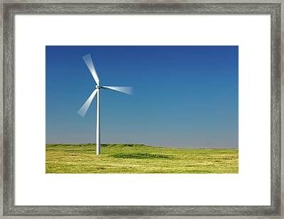 Blades In The Sky Framed Print by Todd Klassy