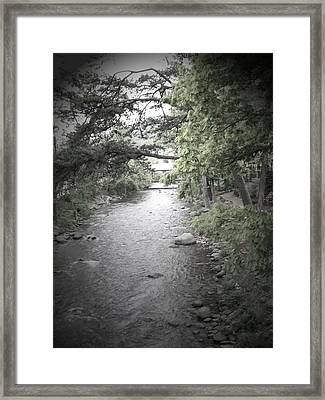 Blaim It On The Rain Framed Print by Jessica Burgett