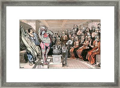 Blaine Cartoon, 1884 Framed Print by Granger