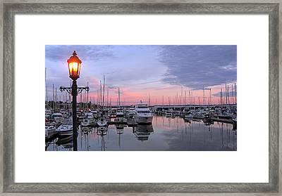 Blaine Sunset Framed Print by Matthew Adair