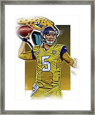 Blake Bortles Jacksonville Jaguars Oil Art Framed Print