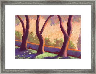 Blake Garden Trees Framed Print