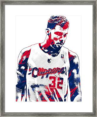 Blake Griffin Los Angeles Clippers Pixel Art 2 Framed Print