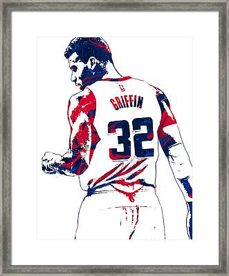 Blake Griffin Los Angeles Clippers Pixel Art 4 Framed Print