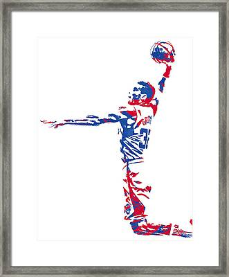 Blake Griffin Los Angeles Clippers Pixel Art 5 Framed Print