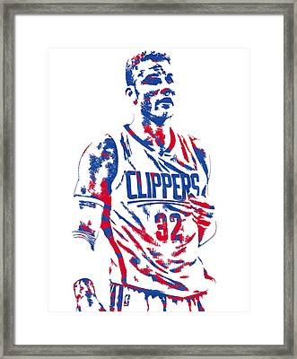 Blake Griffin Los Angeles Clippers Pixel Art 6 Framed Print