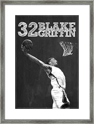 Blake Griffin Framed Print by Semih Yurdabak