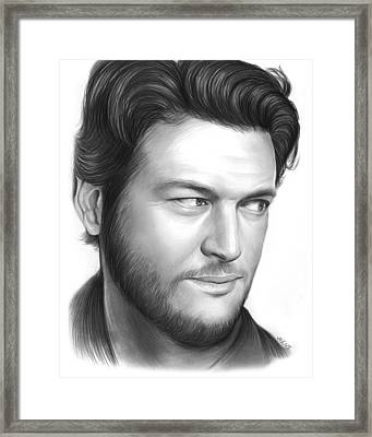 Blake Shelton Framed Print by Greg Joens