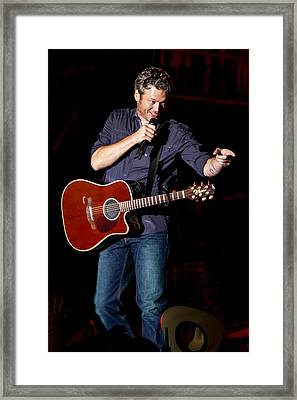Blake Shelton Guitar Framed Print by Mike Burgquist