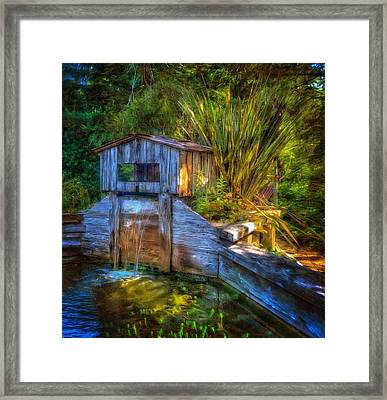 Framed Print featuring the photograph Blakes Pond House by Thom Zehrfeld