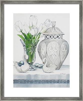 Blanc De Blanc Framed Print